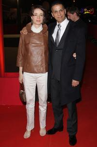 Sami Bouajila and guest at the Cesar Film Awards 2008.