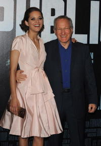 Marion Cotillard and Director Michael Mann at the premiere of