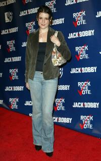 Melanie Lynskey at the Rock The Vote event.