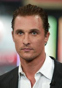 Matthew McConaughey at the MTV's Total Request Live.