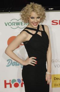 Kylie Minogue at the Golden Camera Awards ceremony.