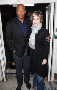 Colin Salmon and his wife Fiona Hawthorne at the VIP screening of