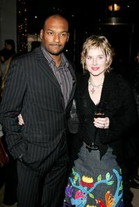 Colin Salmon and his wife Fiona Hawthorne at the after show party of the UK premiere of