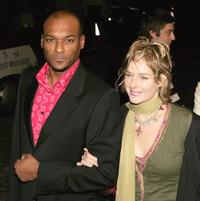 Colin Salmon and Fiona Hawthorne at the UK premiere of