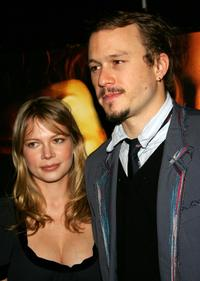 Michelle Williams and Heath Ledger at the special screening of