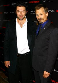 Vincent Cassel and Viggo Mortensen at the screening of
