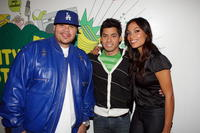 Fat Joe, Carlos Santos and Rosario Dawson at the MTV's Mi TRL.