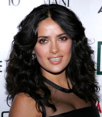 Salma Hayek at the 21st Annual American Cinematheque Award Honoring George Clooney.