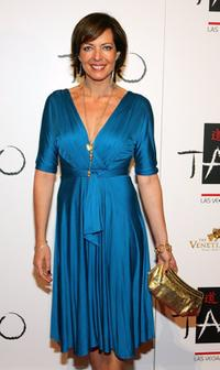 Allison Janney at the Venetian Resort Hotel Casino during the club's one-year anniversary party.
