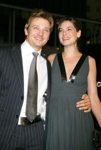 Jeremy Renner and Michelle Monaghan at the premiere of