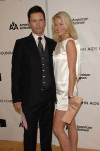 Jeffrey Donovan and guest at the 16th Annual Elton John AIDS Foundation Academy Awards viewing party.
