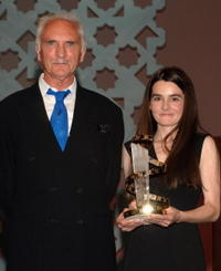 Shirley Henderson and Terence Stamp at the Marrakesh International Film Festival 2005.