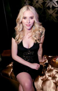 Scarlett Johansson at Warner Music Group's 2007 Grammy Party in L.A.