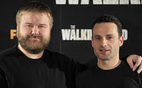Writer Robert Kirman and Andrew Lincoln at the photocall of