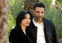 Aure Atika and Roschdy Zem at the photocall