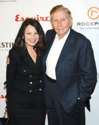 Fran Drescher and Sumner Redstone at the Fastercures event honoring Sumner Redstone.