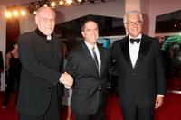 Marco Muller, Lee Unkrich and Paolo Baratta at the Golden Lion Lifetime Achievement Award during the 66th Venice Film Festival.