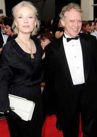 Lindsay Duncan and Hilton McRae at the Olivier Awards 2011 in England.