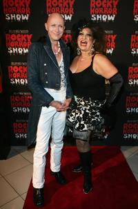 Richard O'Brien and Maria Venutti at the after party of the Rocky Horror Show.
