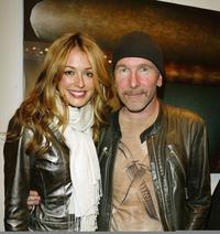 Cat Deeley and The Edge at the opening of the new collection by artist Guggi.