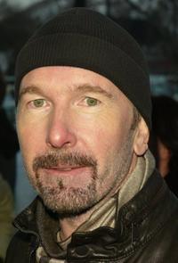 The Edge at the premiere of