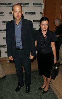 Anthony Edwards and wife Jeanine Lobell at the after party for the opening night of