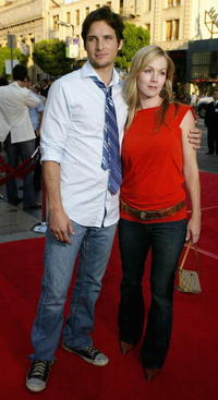 Peter Facinelli and his wife Jennie Garth at the premiere of