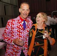 John Waters and Mink Stole at the afterparty for the premiere of