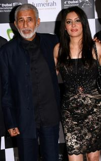 Naseeruddin Shah and Laila Rouass at the premiere of
