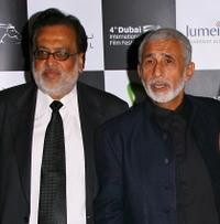 Director Jag Mundhra and Naseeruddin Shah at the premiere of