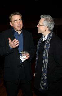 Adam Arkin and Donald Margulies at the after party for the opening of