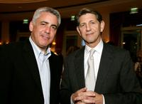 Adam Arkin and Peter Coyote at the celebration honoring Geena Davis as this year's Hollywood Hero by USA Today for the See Jane Program at the Beverly Hills Hotel.
