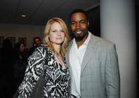 Joelle Carter and Michael Jai White at the premiere of