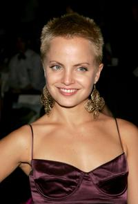 Mena Suvari at the Rosa Cha 2008 Fashion Show during the Mercedes-Benz Fashion Week Spring.