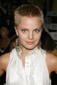 Mena Suvari at the Rebecca Taylor 2008 Fashion Show during the Mercedes-Benz Fashion Week Spring 2008.