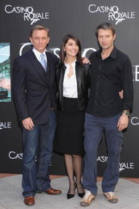 Daniel Graig, Caterina Murino and Mads Mikkelsen at the photocall of