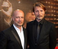 Christian Berkel and Mads Mikkelsen at the German premiere of