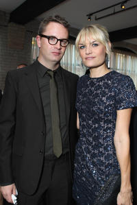 Nicolas Winding Refn and Liv Corfixen at the party of