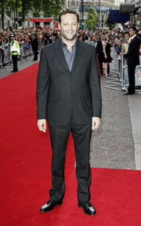 """Vince Vaughn at the UK premiere of """"The Break-up"""" in London."""