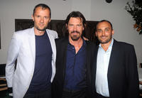 John Battsek, Josh Brolin and Amir Bar-Lev at the after party of the premiere of
