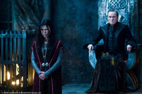 Rhona Mitra as Sonja and Bill Nighy as Viktor in