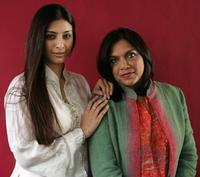 Tabu and Mira Nair at the Chanel Celebrity Suite during the Toronto International Film Festival.