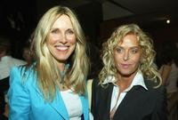 Farrah Fawcett and Alana Stewart at the premiere of
