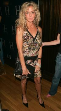 Farrah Fawcett at the Tommy Hilfiger after party during Olympus Fashion Week Spring 2005.