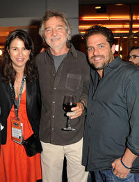Los Angeles Film Festival director Rebecca Yeldham, director Curtis Hanson and Brett Ratner at the after party of