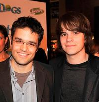 Thor Freudenthal and Johnny Simmons at the premiere of