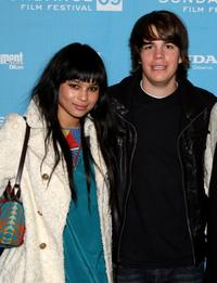 Zoe Kravitz and Johnny Simmons at the screening of