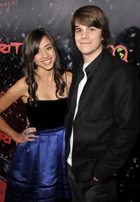 Seychelle Gabriel and Johnny Simmons at the Los Angeles premiere of