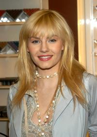 Elisha Cuthbert at the M.A.C. Cosmetics to promote