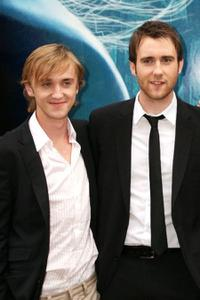 Tom Felton and Matthew Lewis at the photocall of